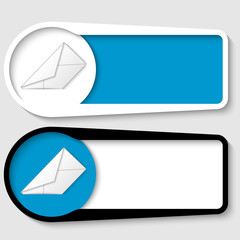 set of two boxes for any text with envelope