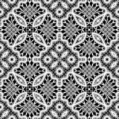 White lace texture, seamless pattern