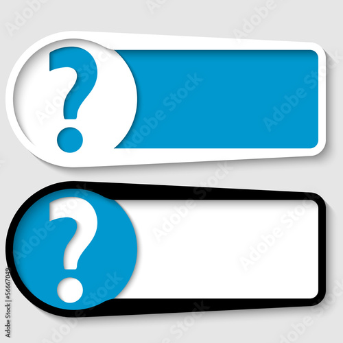 set of two boxes for any text with question mark