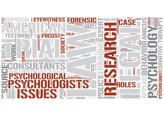 Legal psychology Word Cloud Concept