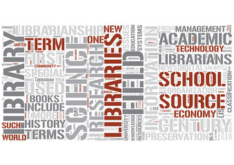 Library science Word Cloud Concept