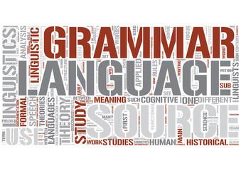 Linguistics Word Cloud Concept
