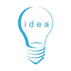 Light idea symbol isolated white background