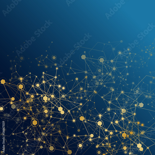 Molecule And Communication Background - Vector Illustration