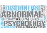Abnormal psychology Word Cloud Concept poster