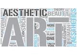 Aesthetics Word Cloud Concept poster