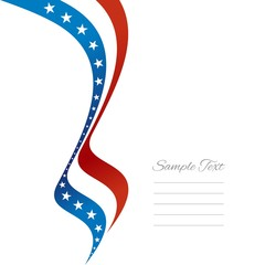 US left ribbon vector