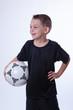canvas print picture - Junge liebt Fußball