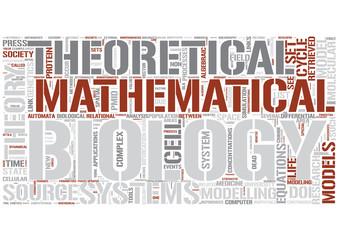 Mathematical biology Word Cloud Concept