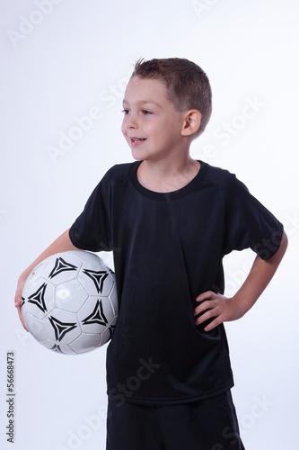 canvas print picture Junge liebt Fußball