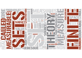 Measure theory Word Cloud Concept