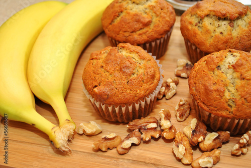 Healthy Homemade Banana Muffins