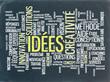 """Nuage de Tags """"IDEES"""" sur Tableau Noir (idées innovation équipe)"""
