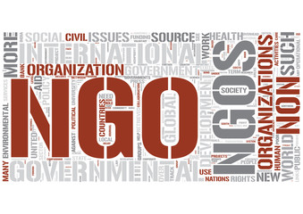 Non-governmental organization Word Cloud Concept