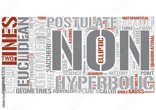 Non-Euclidean geometry Word Cloud Concept