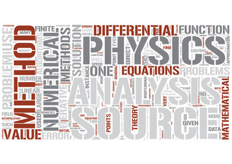 Numerical analysis Word Cloud Concept