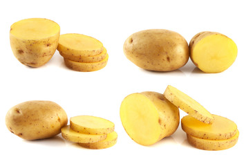 Potatoes set isolated on white background.