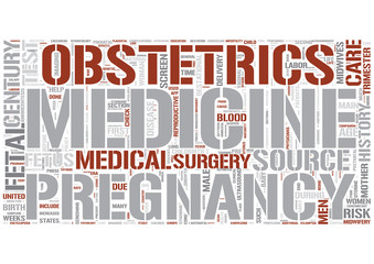 Obstetrics Word Cloud Concept