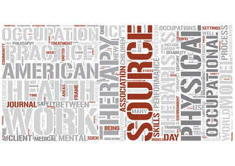 Occupational therapy Word Cloud Concept