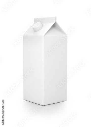 Milk pack isolated on white