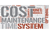 Optimal maintenance Word Cloud Concept