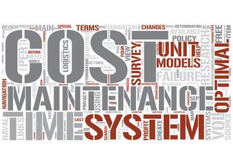 Optimal maintenance Word Cloud Concept