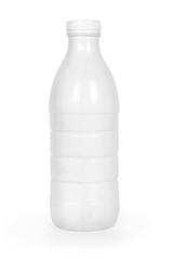 Bottle of milk isolated on white background