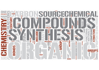 Organic chemistry Word Cloud Concept