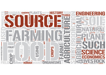 Outline of agriculture Word Cloud Concept