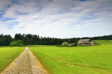 Track and farm at Cartmel