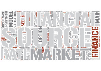 Outline of finance Word Cloud Concept