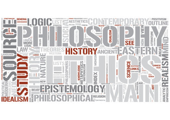 Outline of philosophy Word Cloud Concept