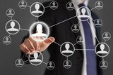 Businessman social network