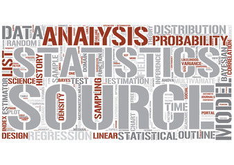 Outline of statistics Word Cloud Concept