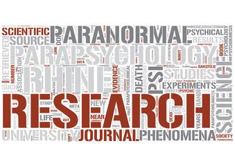 Parapsychology Word Cloud Concept