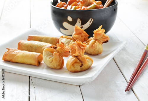 Wontons and Spring Rolls
