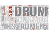 Percussion instrument Word Cloud Concept