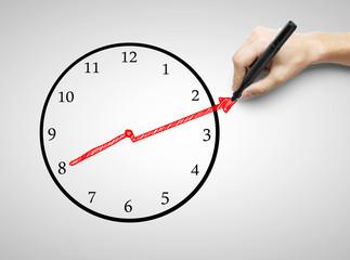 hand drawing clock