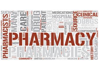 Pharmacy Word Cloud Concept