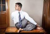 Indian man doing yoga