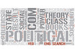 Political sociology Word Cloud Concept