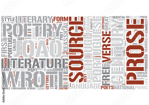 Portuguese literature Word Cloud Concept