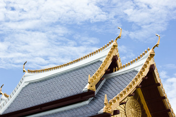 SHAPE THAI ROOF ON SKY BACKGROUND