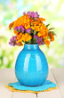 Bouquet of marigold flowers in vase