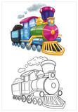 coloring little train