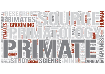 Primatology Word Cloud Concept