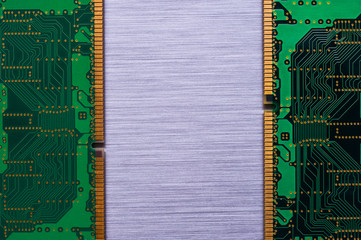 ram chips on brushed metal