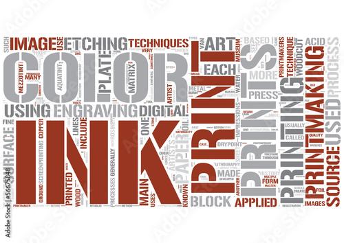 Printmaking Word Cloud Concept