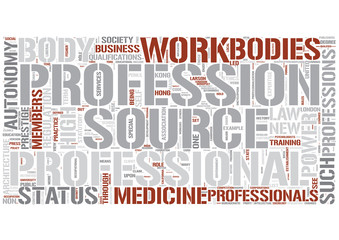Professions Word Cloud Concept