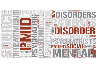 Psychiatry Word Cloud Concept